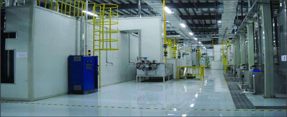 2013年为卡特彼勒无锡变速箱工厂建造的变速器及桥类件喷涂生产线